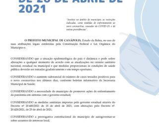 DECRETO Nº. 224/2021, DE 26 DE ABRIL DE 2021.
