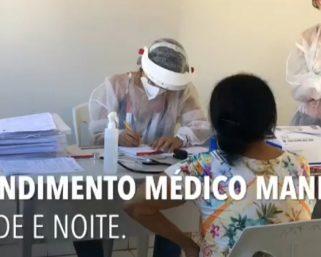 Mutirão de testagem e atendimento médico em Represa.