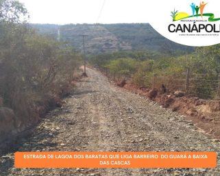 Estrada de Lágoa dos Baratas que liga Barreiro do Guará a Baixa das Cascas.